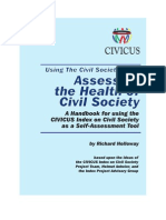 Handbook on how to use the Index as a self-assessment tool
