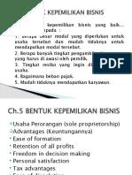 3 Ch 5&6 bentuk kepemilikan bisnis, kewiraswastaan, perencanaan bisnis