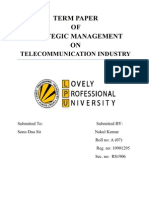 Final Term Paper on Telecommunication