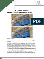 Università, il corso di Scienze dell'Educazione tra i migliori d'Italia - Vivere Urbino.it, 16 settembre 2021
