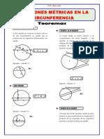 GEOMETRIA TEMA 9 RELACIONES METRICAS EN LA CIRCUNFERENCIA
