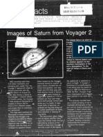 NASA Facts Images of Saturn From Voyager 2