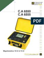 Notice de Fonctionnement CA6550 Et CA6555