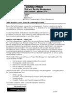CKPM209 Course Outline 2010 v1.0