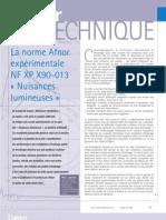 cahier technique NF XP X90-013