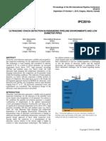 IPC2010-31279-ULTRASONICCRACK-DETECTIONINDEMANDINGPIPELINEENVIRONMENTSANDLOW