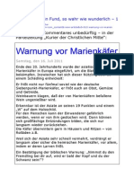 Oliver Adam - Fund 1 - Warnung vor Marienkaefer