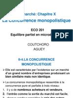 MICRO 2 Chapitre X - La Concurrence monopolistique_0
