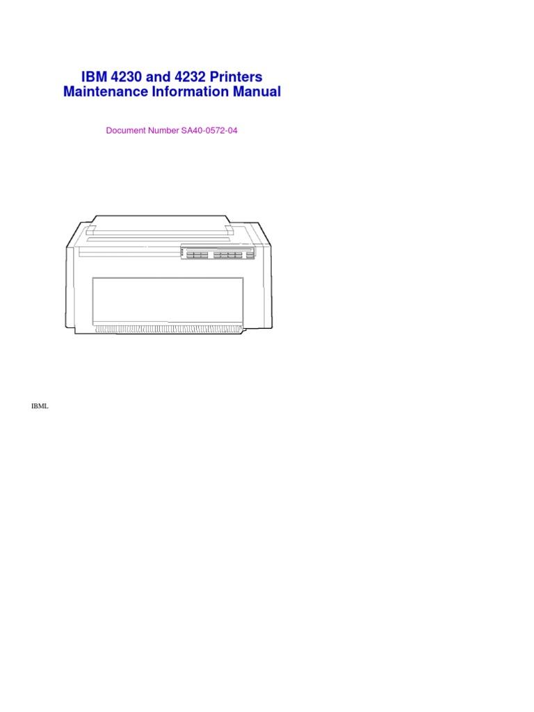 ibm printer service manual how to and user guide instructions u2022 rh taxibermuda co IBM Office System 6 Printer with Dual Paper Trays IBM 6400 Line Matrix Printer