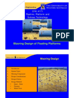 Mooring Design of Floating Platforms - Univ of Western Australia presentation
