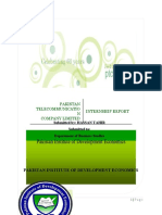 PTCL Internship Report 2010