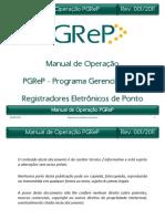 Manual de Operação PGReP