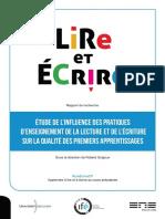 Rapport Lire Et Ecrire