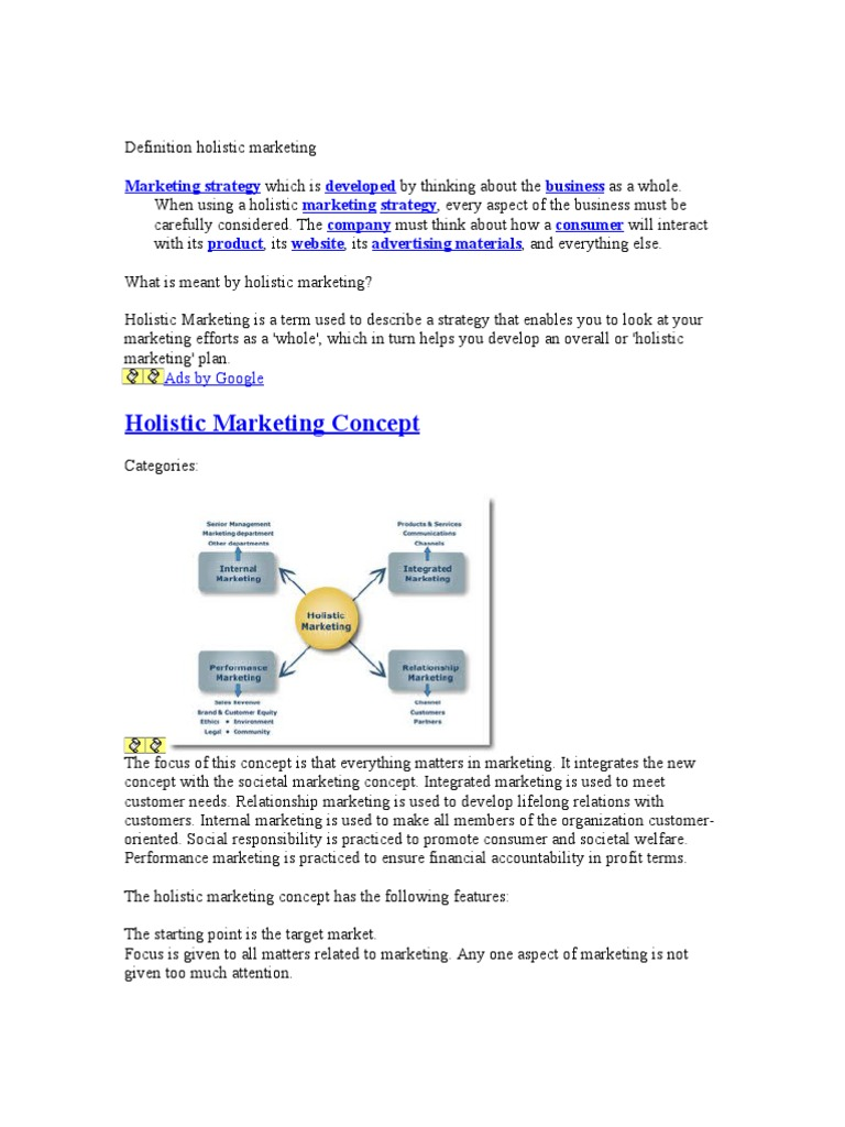 holistic marketing approach How does seo and content marketing work together today is seo a greater  piece of the puzzle, or a small piece we're holding back nothing.