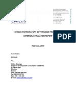 CIVICUS Participatory Governance Programme