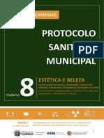 Caderno 8 _ Protocolo Sanitário Municipal ESTÉTICA E BELEZA_ Implementação Plano SP_Campinas_ final 07-08