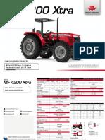 Trator - Mf 4200 Xtra Fv Fop Baixa