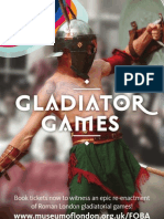 Join the crowd at our Gladiator Games this summer!