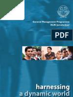 XLRI GMP 2011 Brochure