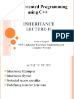 Lecture 19 (Inheritance)