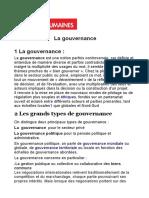 La Gouvernance (1)