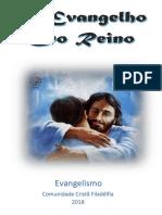 1-  REVISTA - O Evangelho do Reino - Agosto  2018