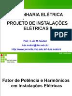 (3) Apresentaçao PIE II - Fator de Potência e Harmônicos em Instalações Elétricas