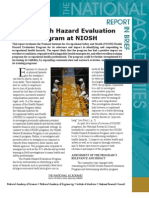 Health Hazard Evaluation Program at NIOSH, Report in Brief