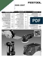 Festool price 2006-2007