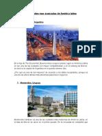 10 ciudades mas avanzadas de América latina