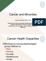 Cancer and Minorities (Norma Kanarek, PhD, MPH)