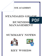 Bus Mgt GC Revision Booklet
