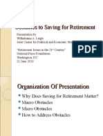 Obstacles to Saving for Retirement (Wilhelmina Leigh)