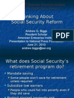 Thinking About Social Security Reform (Andrew Biggs)
