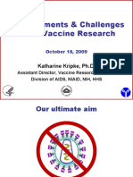 Developments and Challenges in HIV Vaccine Research (Katharine Kripke, Ph.D.)