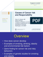 Causes of Cancer risk and Responsibility (Peter G. Shields, M.D.)