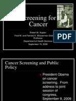 Screening for Cancer (Robert M. Kaplan, Ph.D)