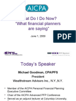 What Do I Do Now? What Financial Planners are Saying (Michael Goodman)
