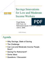 Savings Innovations for Low- and Moderate-Income Workers (Preeti Mehta)