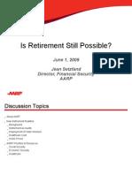 Is Retirement Still Possible? (Jean Setzfand)