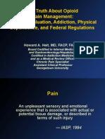 Pain Management (Dr. Howard Heit)