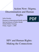 Stigma, Discrimination and Human Rights (Sofia Gruskin)