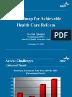 Roadmap for Achievable Health Care Reform (Karen Ignagni)