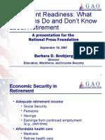 Retirement Readiness (NPF)