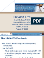 HIV/AIDS and TB (Dr. Jerald Sadoff)