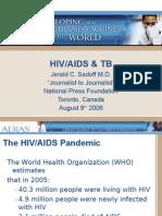 HIV/AIDS and TB (Dr. Jerald Sadoff)