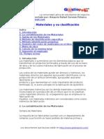 Los Materiales y su clasificación
