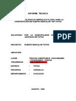 INFORME  TÉCNICO  HIDRAULICO PUENTE TOTOSPAMPA