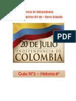 GUÍA N°2 - C. SOCIALES 8°
