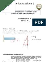 Solucionacion Examen Parcial 1 Mecanica Analitica 1